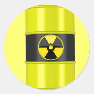 desechos radioactivos pegatina