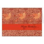"""Desee el """"feliz cumpleaños"""" con tres pájaros del c tarjetas"""