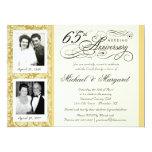 Desee las 65.as invitaciones del aniversario - invitación 16,5 x 22,2 cm