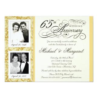 """Desee las 65.as invitaciones del aniversario - invitación 6.5"""" x 8.75"""""""