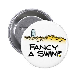 ¿Desee una nadada? Pin Redondo 5 Cm