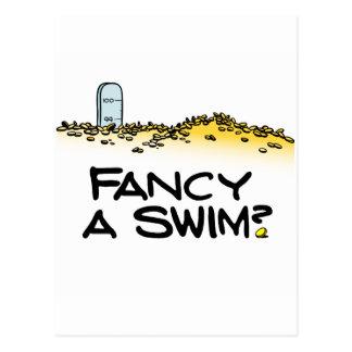 ¿Desee una nadada? Postal