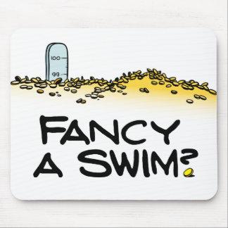 ¿Desee una nadada? Tapete De Raton