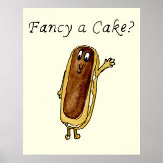 ¿Desee una torta? arte peculiar divertido del