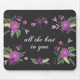 Deséele todo el mejor - estampado de flores alfombrilla de raton