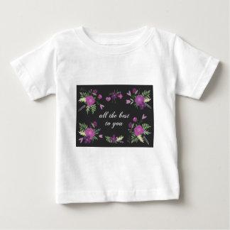 Deséele todo el mejor - estampado de flores playera de bebé