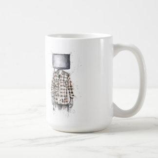 desenchufado taza básica blanca