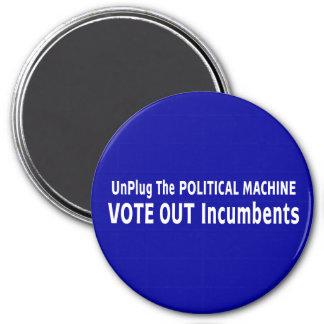 Desenchufe la máquina política imán de frigorífico