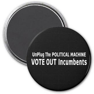 Desenchufe la máquina política imán de frigorifico