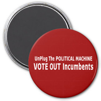 Desenchufe la máquina política iman de frigorífico