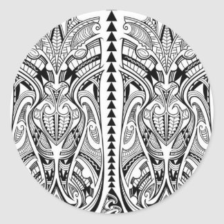 desenho-tatuagem-maori03.jpg classic round sticker