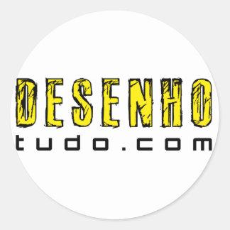 desenhotudo.com classic round sticker