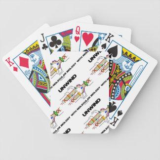 Desenrolle con la biología molecular la réplica d cartas de juego