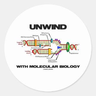 Desenrolle con la biología molecular (la réplica pegatina redonda