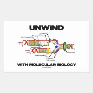 Desenrolle con la biología molecular (la réplica pegatina rectangular