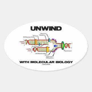 Desenrolle con la biología molecular (la réplica pegatina ovalada