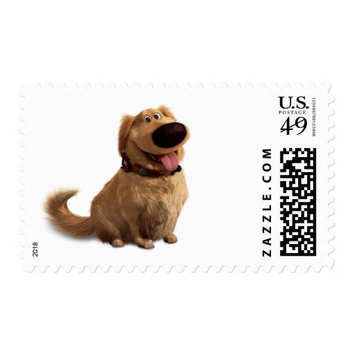 Desenterró el perro de Disney Pixar - sonriendo Timbre Postal