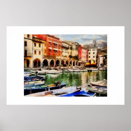 Desenzano - old harbour poster