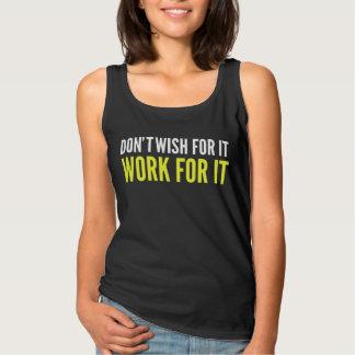 Deseo de Don´t para él trabajo para él camiseta Playera De Tirantes Básica