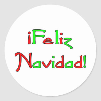 Deseo de Feliz Navidad Classic Round Sticker