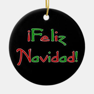 Deseo de Feliz Navidad Christmas Ornament