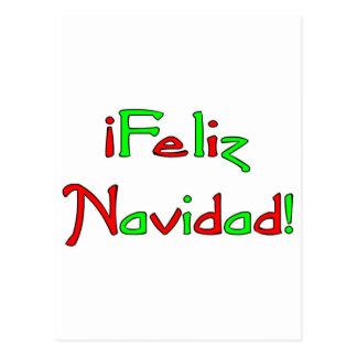 Deseo de Feliz Navidad Postcard