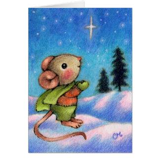 Deseo de la estrella del navidad - arte lindo del felicitaciones