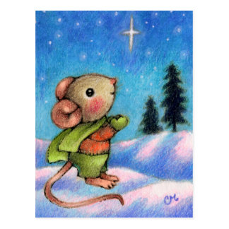 Deseo de la estrella del navidad - arte lindo del tarjeta postal