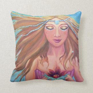 Deseo de la sirena - almohada - por el arte de Sus