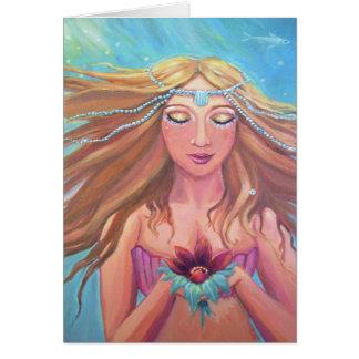 Deseo de la sirena - tarjeta de felicitación