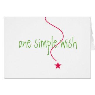 Deseo de la tarjeta de Navidad