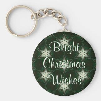 Deseo de las estrellas del navidad llavero redondo tipo pin