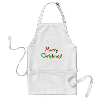 Deseo de las Felices Navidad Delantales