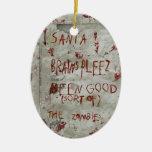 deseo de los zombis ornamento para arbol de navidad