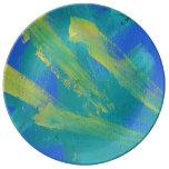 Deseo de pintura 73 sobre una estrella plato de cerámica