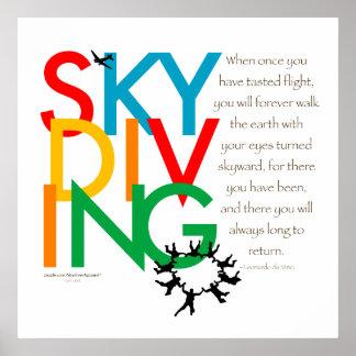 Deseo de Skydiving Poster