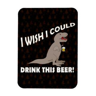 Deseo de T-Rex podría beber esta cerveza Imanes Flexibles