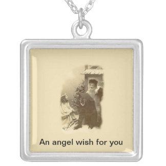 Deseo del ángel colgante personalizado