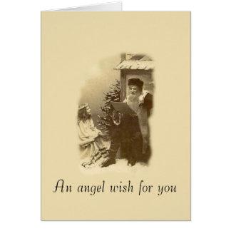 Deseo del ángel tarjetón