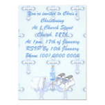 Deseo del bautizo de los muchachos invitacion personalizada