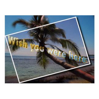 Deseo del Caribe usted estaba aquí Postal