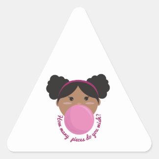 Deseo del chicle pegatinas de triangulo personalizadas