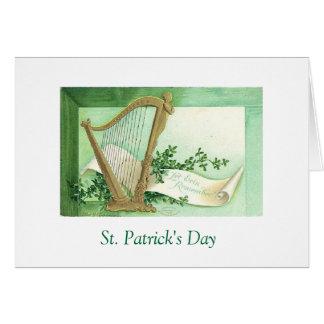 Deseo del día de St Patrick Tarjeta De Felicitación