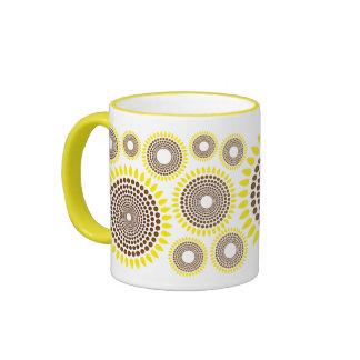 Deseo del girasol taza de café