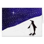 Deseo del navidad de un pingüino felicitación