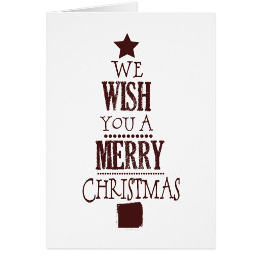 Deseo del navidad tarjeta de felicitación