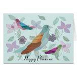Deseo del Passover del pájaro cantante Tarjetón
