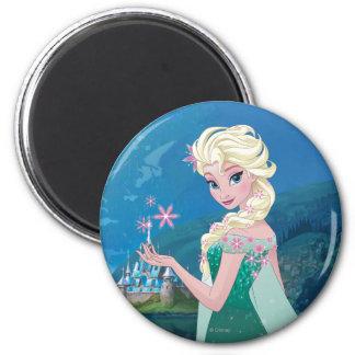 Deseo del verano de Elsa el   Imán Redondo 5 Cm