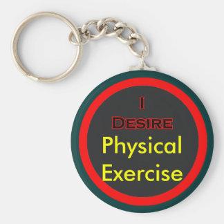 Deseo ejercicio físico llavero