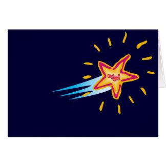 Deseo en una tarjeta de la estrella